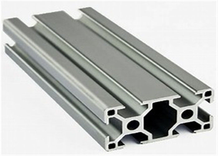 Construction Stock Aluminum Extrusion Profiles , 6005a Extruded Aluminium Channel
